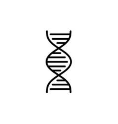 Dna strand structure icon line black vector