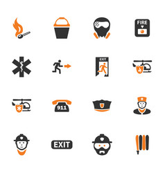 Emergency icons set vector