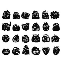 Emotional abstract avatars negative friend avatar vector