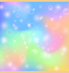 Fairy princess rainbow cute background with magic vector