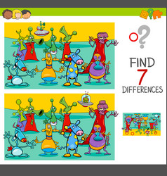 Find differences game with aliens characters vector