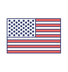 flag united states of america flat color sections vector image