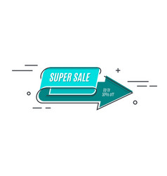 flat linear promotion arrow banner scroll price vector image