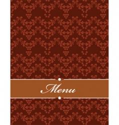 Floral filigree menu vector