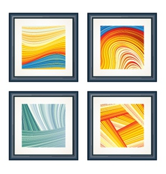 four abstract artworks vector image