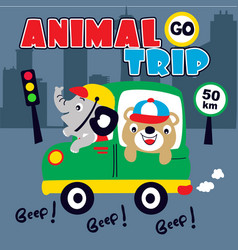 funny exotic animals vector image