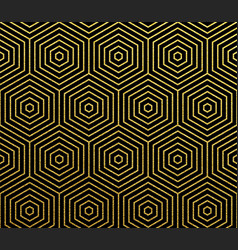geometric gold abstract pattern background vector image