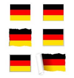 Germany flag set vector image