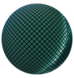 Green mosaic ball vector image