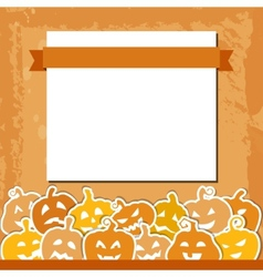 Halloween grunge background with yellow and orange vector image