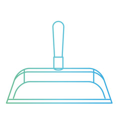 hand dustpan with wooden stick in degraded green vector image