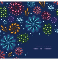 Holiday fireworks corner decor pattern background vector image