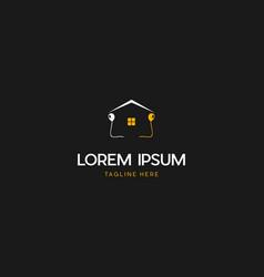 Home party creative business logo design vector