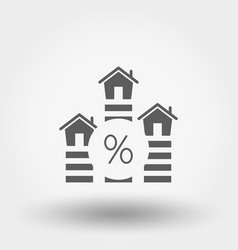 interest rate on real estate - mortgage icon vector image