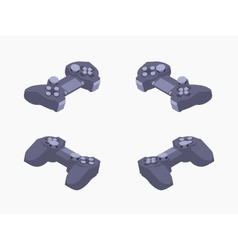 Isometric black gamepad vector image