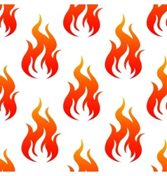 Leaping fiery flames seamless pattern vector image