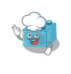 Lego brick toys cartoon character working as a vector