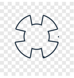 lifebuoy concept linear icon isolated on vector image