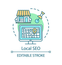 location seo concept icon vector image