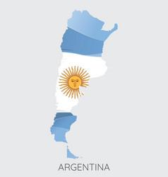 Map argentina vector