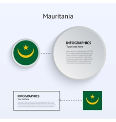 Mauritania Country Set of Banners vector