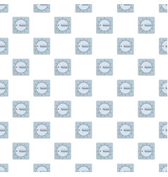mechanical timer pattern seamless vector image