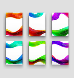 Minimal curve liquid spark wave set background vector