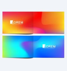 modern template for horizontal brochure vector image