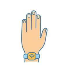 Nfc bracelet color icon vector