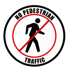 no pedestrian traffic sign vector image