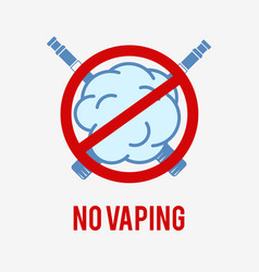 no vaping sign vector image