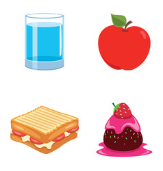 of food vector image