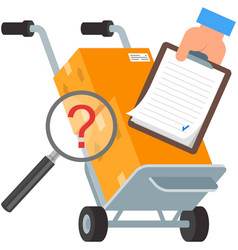 Parcel package box to door delivery service vector