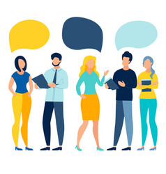 people team conversation vector image