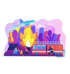 prevention wildfire concept vector image