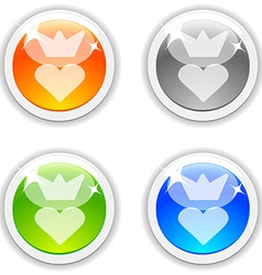 Queen buttons vector image