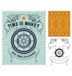 Retro stamp design vector image