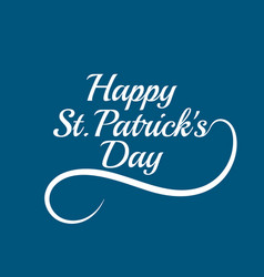 saint patricks day card design vector image