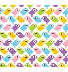 seamless pattern with colorful birds vector image
