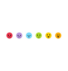 set emoticons with different emotions vector image
