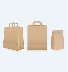 Set of three different paper bags vector image