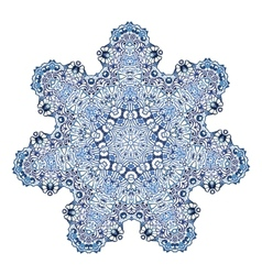 Seven-pointed snowflake pattern vector image