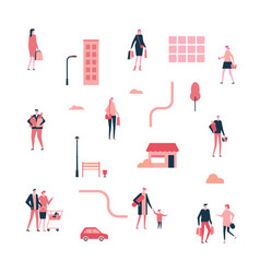 Shopping - flat design style set isolated vector