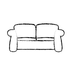Sketch sofa furniture comfort relax image vector