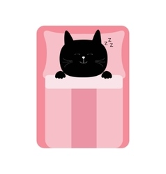 Sleeping cat Baby pet animal collection for kids vector image