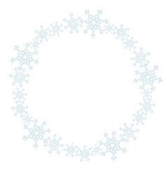 snowflakes wreath ornament winter vector image