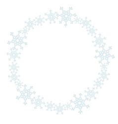 snowflakes wreath ornament winter vector image