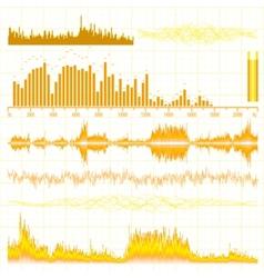 Sound waves set Music background EPS 10 vector