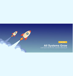 start up simple rocket web design responsive web vector image