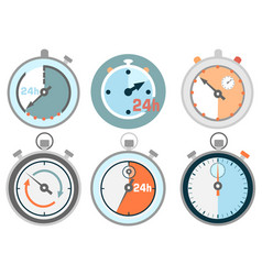 Stopwatch icons vector